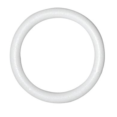 Anelli in metallo bianco glitterato INSPIRE, 10 pezzi