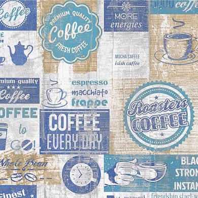 Carta da parati Coffee azzurro