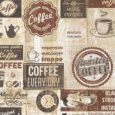 Carta da parati Coffee time beige