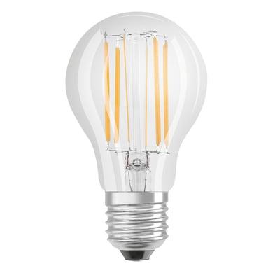 Lampadina LED filamento, E27, Goccia, Trasparente, Luce calda, 7.5W=1055LM (equiv 75 W), 320° , OSRAM