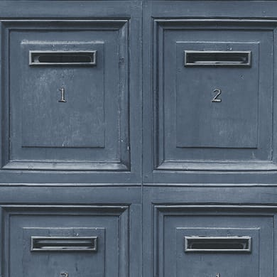 Carta da parati Cassetta postale blu