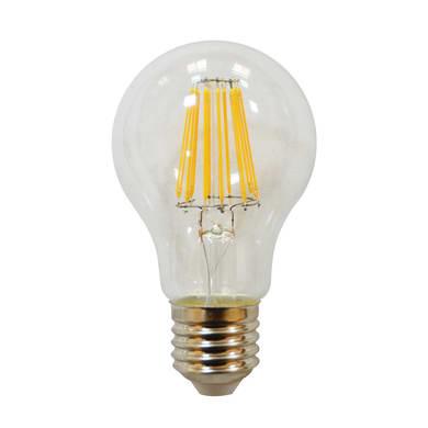 Lampadina LED filamento, E27, Goccia, Trasparente, Luce calda, 8.5W=1055LM (equiv 75 W), 360° , LEXMAN
