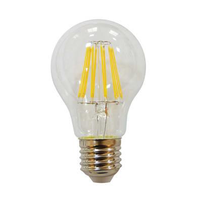 Lampadina LED filamento, E27, Goccia, Trasparente, Luce naturale, 8.5W=1055LM (equiv 75 W), 360° , LEXMAN