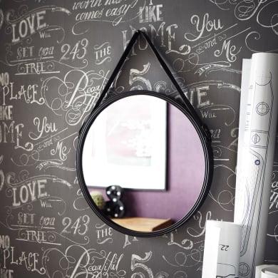 Specchio a parete tondo Kuze grigio 40.5 cm