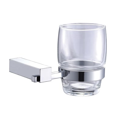 Bicchiere porta spazzolini Reia in vetro trasparente