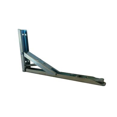 Staffa ribaltabile L 15 x H 15 cm grigio / argento