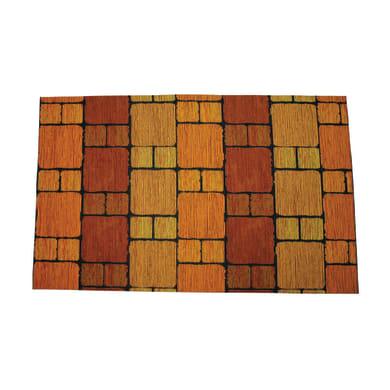 Passatoia Deco Brick , arancione, 53x53 cm