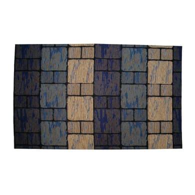 Passatoia Deco Brick , blu, 53x53 cm