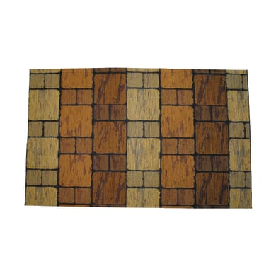 Passatoia Deco Brick , marrone, H 53