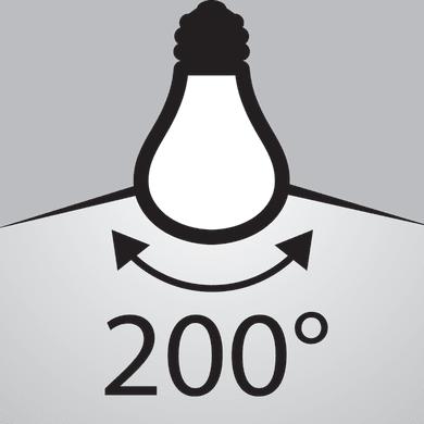 Lampadina LED, E27, Goccia, Opaco, Luce calda, 10.5W=1055LM (equiv 75 W), 320° , OSRAM