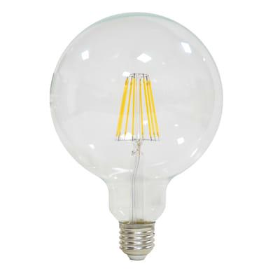 Lampadina LED filamento E27, Globo, Trasparente, Bianco caldo, 12W=1521LM (equiv 100 W), 360° , LEXMAN