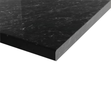 Piano cucina su misura in truciolare Marmo nero , spessore 6 cm