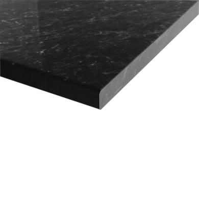 Piano cucina su misura in truciolare Marmo nero , spessore 4 cm