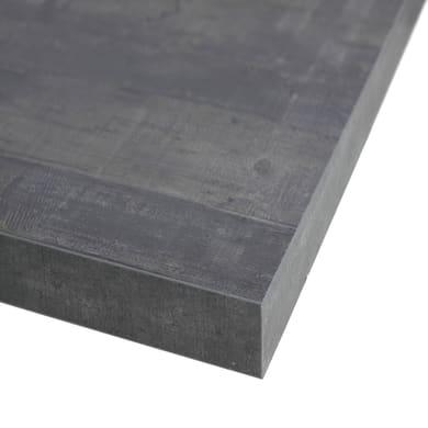 Piano cucina su misura in truciolare Kaos grigio , spessore 2 cm