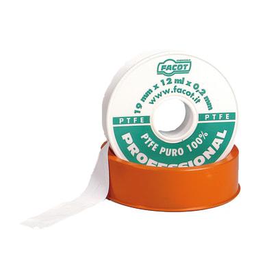 Nastro teflon Plastica alta densità (PTFE) 0.019 x 12 x Sp 0.2 mm