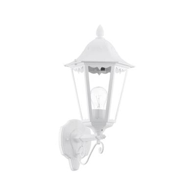 Applique Navedo in alluminio + vetro, bianco, E27 MAX100W IP44 EGLO