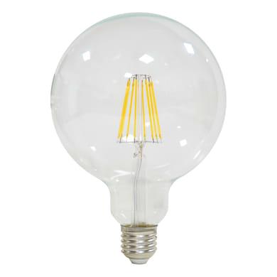 Lampadina LED filamento E27, Globo, Trasparente, Bianco, Luce naturale, 12W=1521LM (equiv 100 W), 360° , LEXMAN