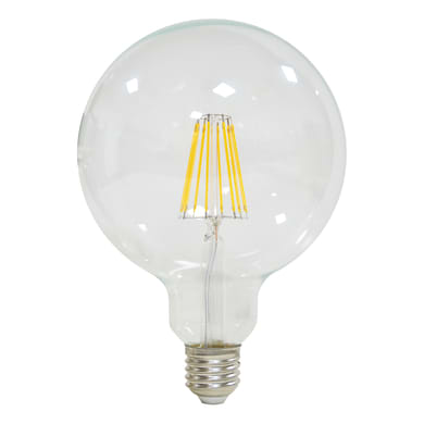 Lampadina LED filamento E27, Globo, Trasparente, Bianco naturale, 12W=1521LM (equiv 100 W), 360° , LEXMAN