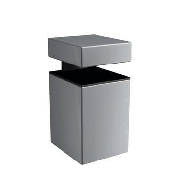 Reggimensola Block L 3 x H 5 x P 35 cm grigio / argento