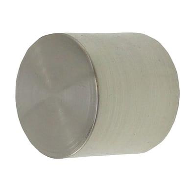 Finale per bastone Ø16mm Stelvio cilindro in metallo lucido Set di 2 pezzi