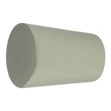 Finale per bastone Stelvio cilindro in metallo Ø16mm acciaio satinato Set di 2 pezzi