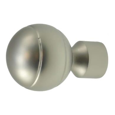 Finale per bastone Stelvio sfera in metallo Ø16mm acciaio satinato Set di 2 pezzi