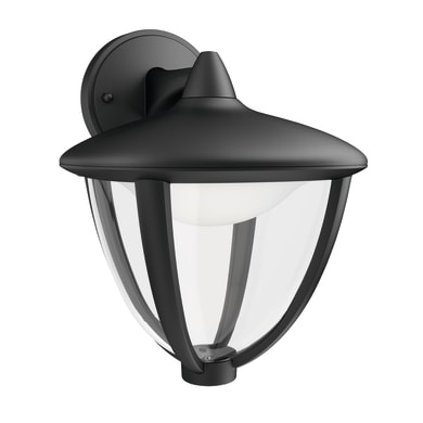 Applique Robin LED integrato in alluminio, nero, 4.5W 430LM IP44 PHILIPS