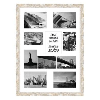 Cornice Gaia per 10 fotografie 13 x 18  bianco<multisep/>bianco