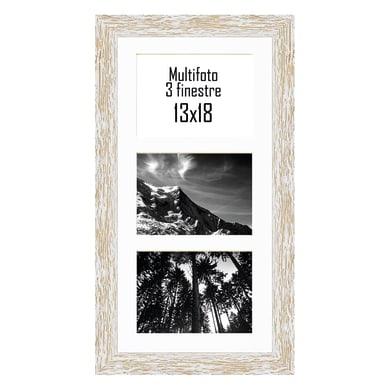 Cornice Gaia per 3 fotografie 13 x 18 bianco<multisep/>bianco