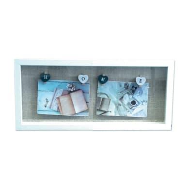 Cornice Love clamp per 2 fotografie 10 x 15  bianco