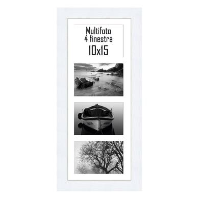Cornice multifoto Maussane bianco 4 foto