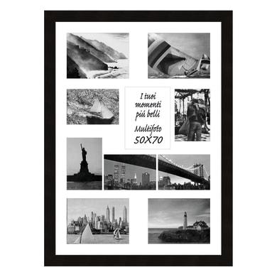 Cornice Maussane per 10 fotografie 13 x 18 nero<multisep/>bianco