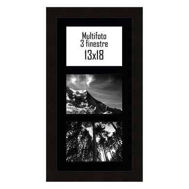 Cornice Maussane per 3 fotografie 13 x 18 nero