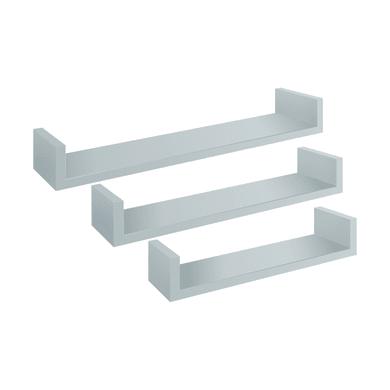 Mensola Spaceo L 60 x P 1.5 cm, Sp 1.8 cm bianco