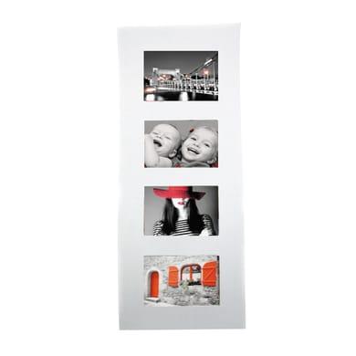 Cornice Onda per 4 fotografie 10 x 15  bianco