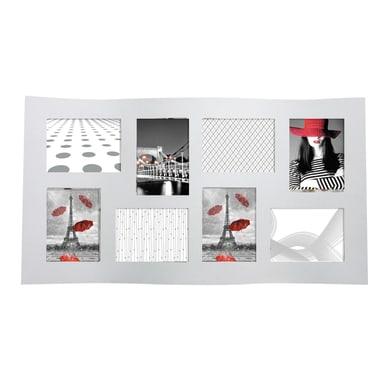 Cornice Onda per 8 fotografie 13 x 18 bianco