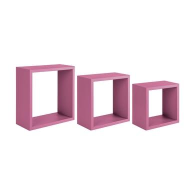 Mensola a cubo L 35 x H 35 cm, Sp 18 mm rosa