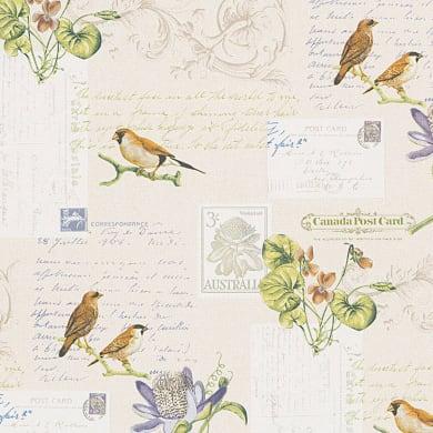 Carta da parati Cartolina vintage bianco