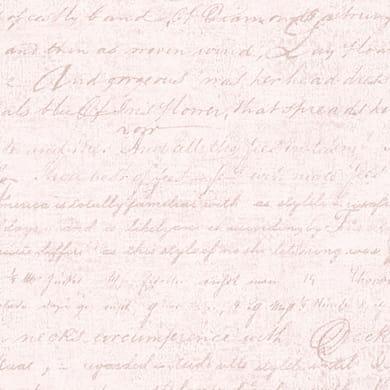 Carta da parati Scritte corsivo beige