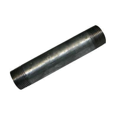 """Tubo acciaio in ferro zincato Barilotto tronchetto in acciaio zincato Ø 1/2"""" L 0.3 m"""