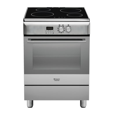 Cucina freestanding accensione elettronica con manopole INDESIT H6IMAAC (X)