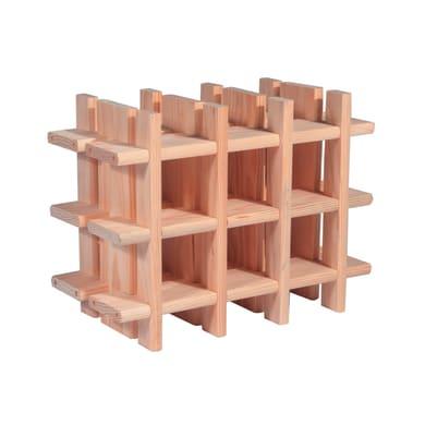 Portabottiglie 9 posti L 43 x H 32.5 x Sp 22 cm
