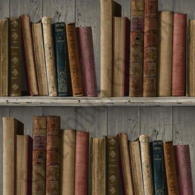 Carta da parati Libreria dorato