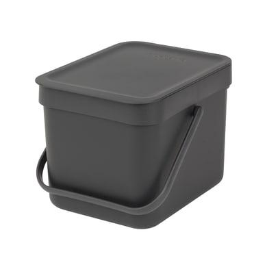 Pattumiera manuale grigio 6 L