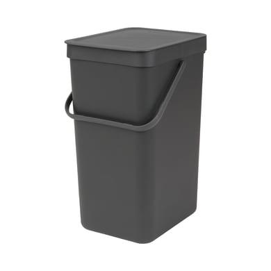 Pattumiera manuale grigio 16 L