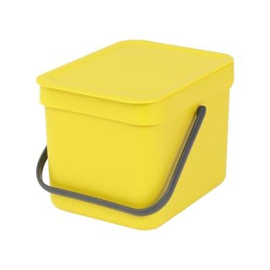 Pattumiera manuale giallo 6 L