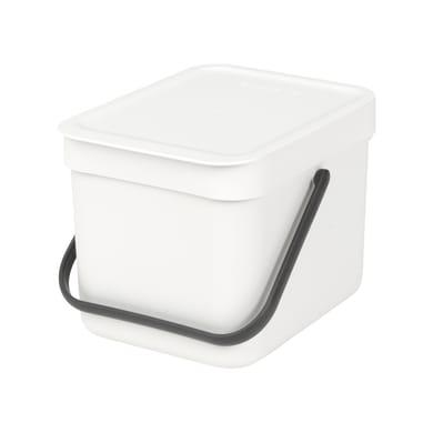 Pattumiera manuale bianco 6 L