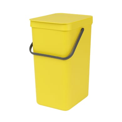 Pattumiera manuale giallo 16 L