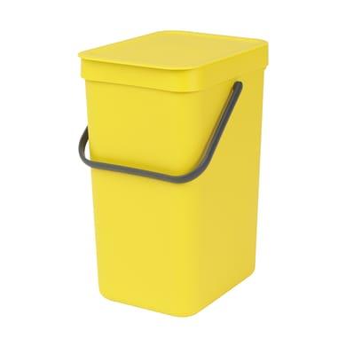 Pattumiera manuale giallo 12 L