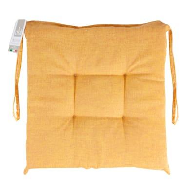 Cuscino per sedia Carlo giallo 40x40 cm